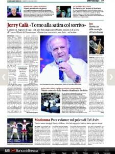 Il Giornale di Brescia, sabato 2 Giugno 2012